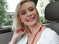 Maddy Rose is a slim blonde who likes to get fucked hard in her boyfriend's car